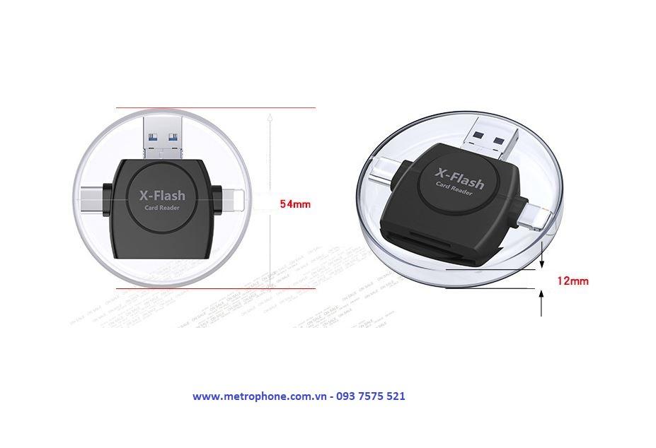 Đầu Đọc Thẻ Nhớ Đa Năng X-Flash metrophone.com.vn