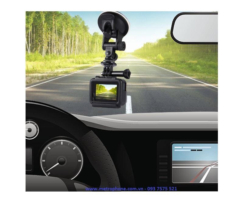 đế hít kính xe hơi gắn camera puluz metrophone.com.vn