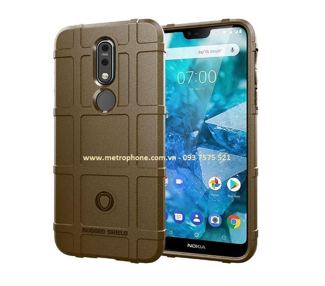 Nokia 7.1 - Ốp Lưng Chống Sốc Cao Su Rugged Shield metrophone.com.vn
