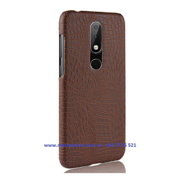 Ốp Cứng Giả Da Dành Cho Nokia X6 2018 metrophone.com.vn