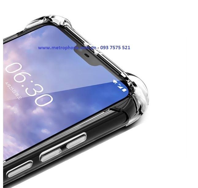 Ốp Dẻo Trong Suốt Chống Sốc 4 Góc Cạnh Cho Nokia 6.1 Plus / Nokia X6 2018 metrophone.com.vn
