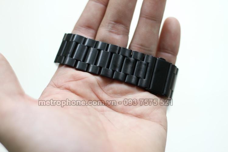 [3931] Dây Thép Đúc Cho SamSung Gear S3 Frontier/Classic/ Fossil Q Founder/ Ticwatch 1 - Metrophone.com.vn