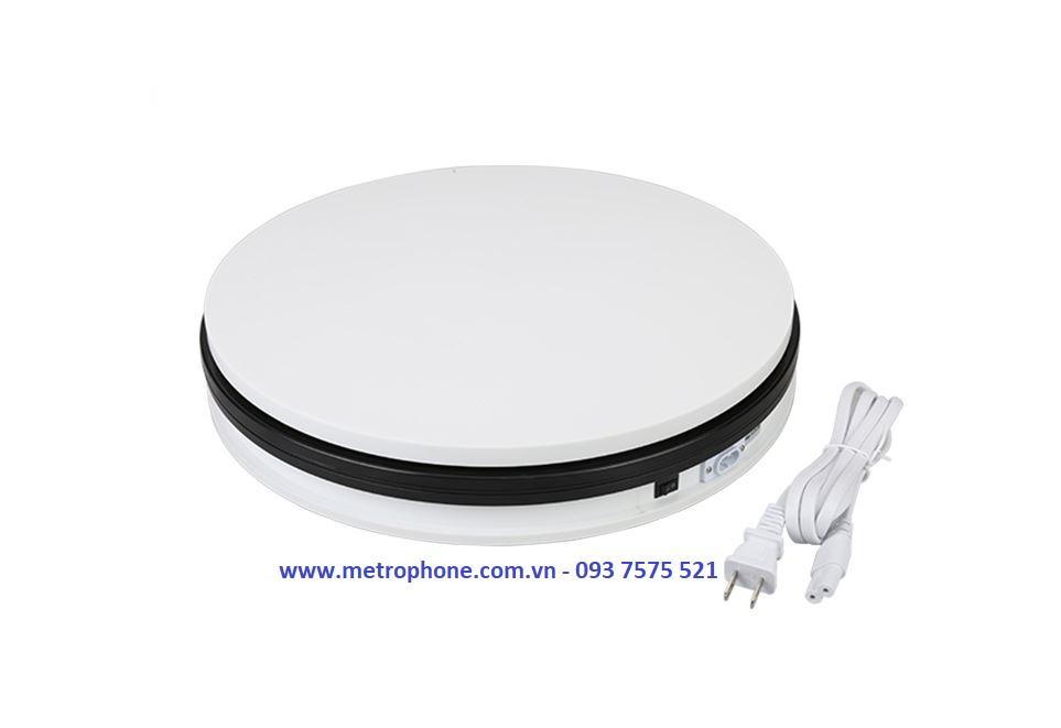 bàn xoay chụp sản phẩm metrophone.com.vn