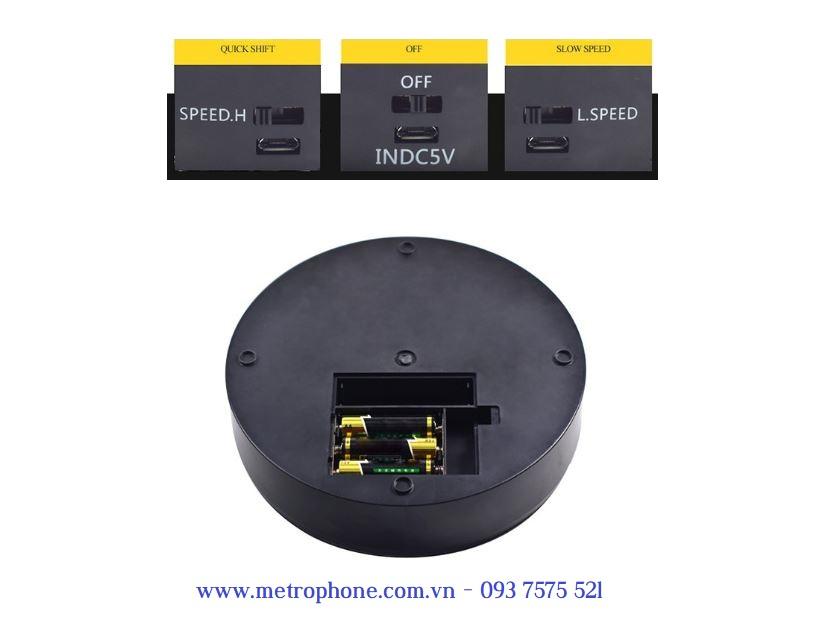 bàn xoay sản phẩm mặt gương metrophone.com.vn