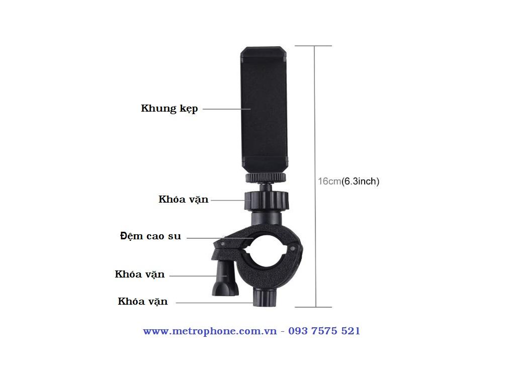 bộ kẹp điện thoại lên chân máy ảnh metrophone.com.vn