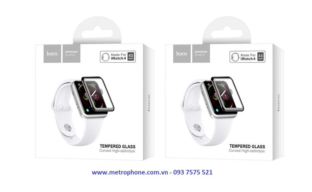 Cường Lực Full Màn Hình Apple Watch Series 4 ( 40mm / 44mm ) Chính Hãng Hoco metrophone.com.vn