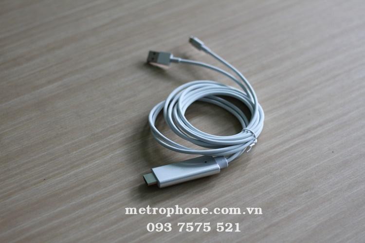 [2454] Cáp HDMI Cổng Lightning Cho Iphone X uất Ra Màn Hình TiVi - Metrophone.com.vn