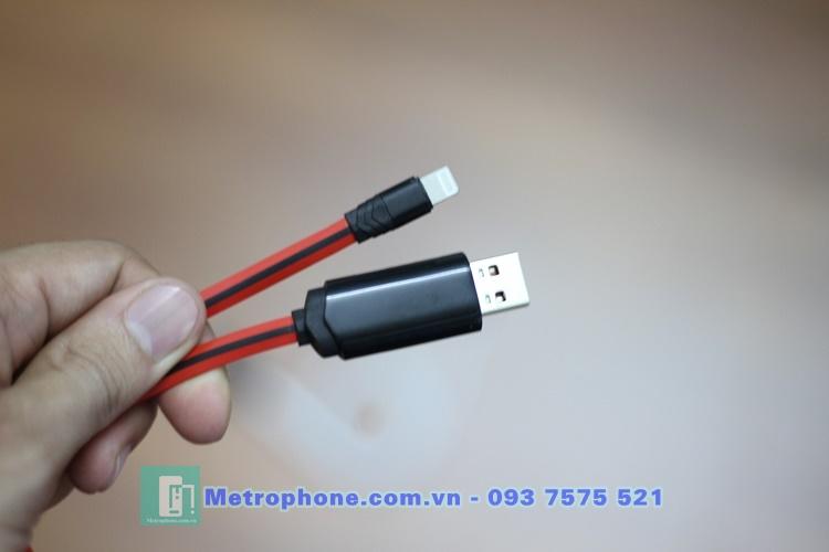 [6052] Cáp Lightning Đèn Led Hiện Thị Hẹn Thời Gian Sạc HOCO U29 - Metrophone.com.vn