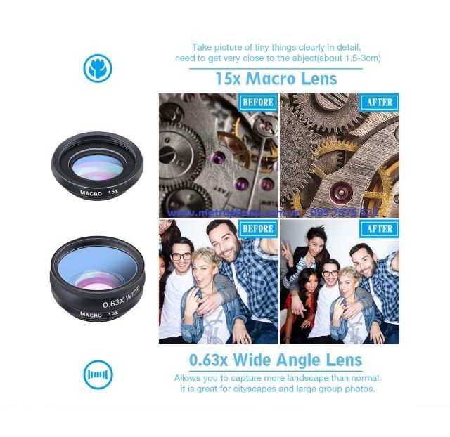 Combo 10 Ống Kính APEXEL Chụp Hình Hiệu Ứng Dành Cho Điện Thoại metrophone.com.vn