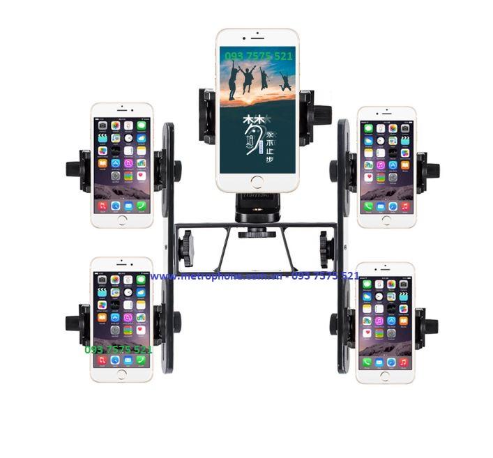 combo kẹp 5 điện thoại cùng lúc quay video metrophone.com.vn