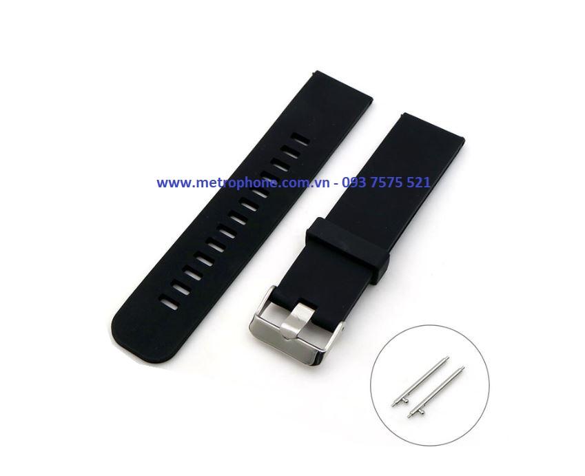dây cao su dẻo cho gear s3 watch 46mm huawei watch gt metrophone.com.vn