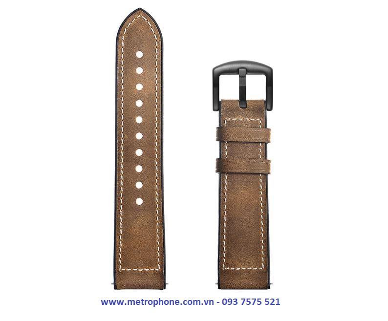 Dây da Hybird dành cho Samsung Galaxy Watch 42mm / Gear S2 Classic / Watch Active / Ticwatch 2 / Gear Sport / Watch Magic metrophone.com.vn