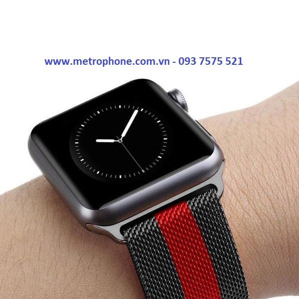 Dây Lưới Milanese Loop Kẻ Sọc Dành Cho Apple Watch ( 38mm/ 40mm / 42mm / 44mm ) metrophone.com.vn