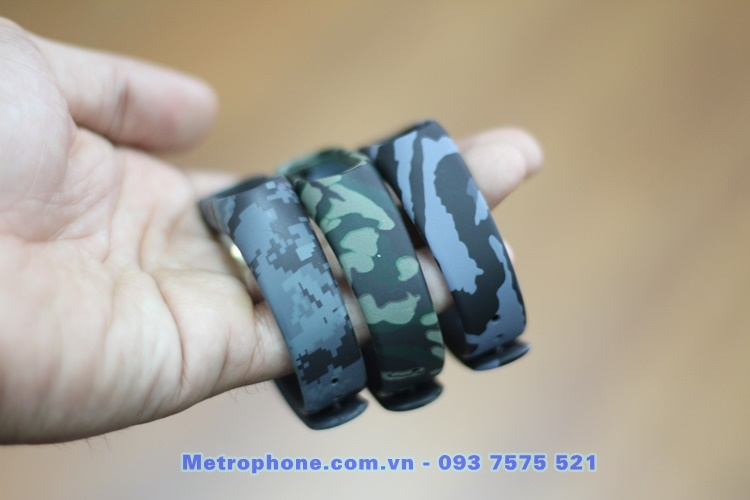 [2831] Dây Đeo Xiaomi Mi Band 2 ( Dây Nhựa Màu Sắc Camo ) - Metrophone.com.vn