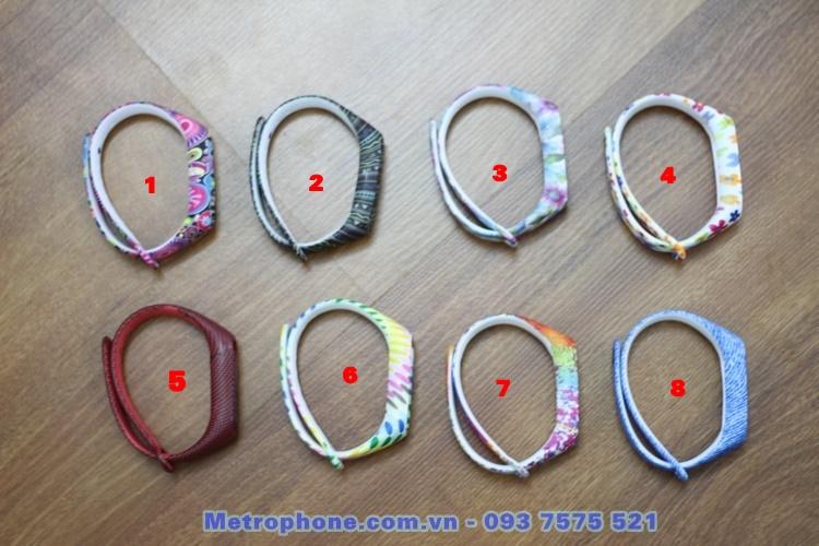 [6071] Dây Đeo Mi Band 2 ( Dây Nhựa Màu Sắc Họa Tiết Hoa Văn ) - metrophone.com.vn