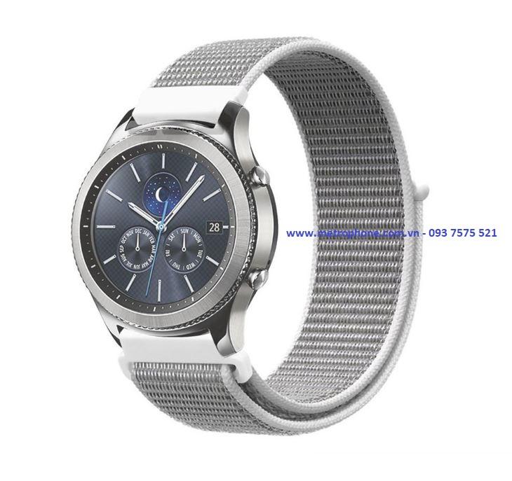 Dây Vải Khóa Dán Dành Cho Samsung Gear S3 Classic / Frontier/ Fossil Q Founder/Xiaomi Amazfit/ Ticwatch 1/ Samsung Galaxy Watch 46mm metrophone.com.vn