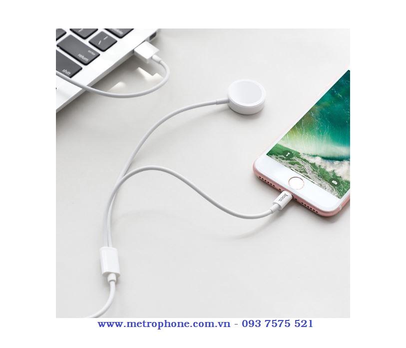 Cáp sạc Hoco 2 trong 1 dành cho Apple watch và IPhone metrophone.com.vn