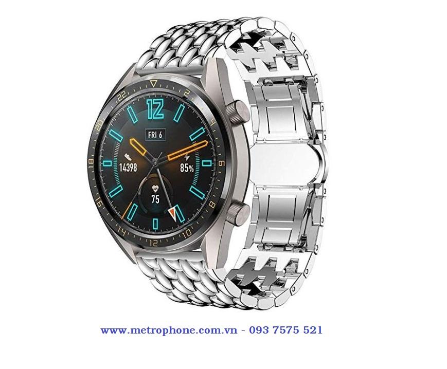 Dây thép vảy rồng Samsung Gear S3 / Watch 46mm / Huawei Watch GT / Xiaomi Amazfit / Watch GT 2 / Ticwatch 1 metrophone.com.vn