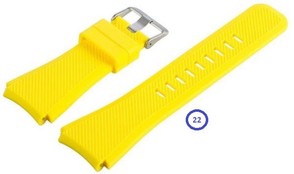 Dây Cao Su Bản Bự Cho Samsung Gear S3 Classic / Frontier/ Ticwatch 1/ Fossil Q Founder/Xiaomi Amazfit metrophone.com.vn
