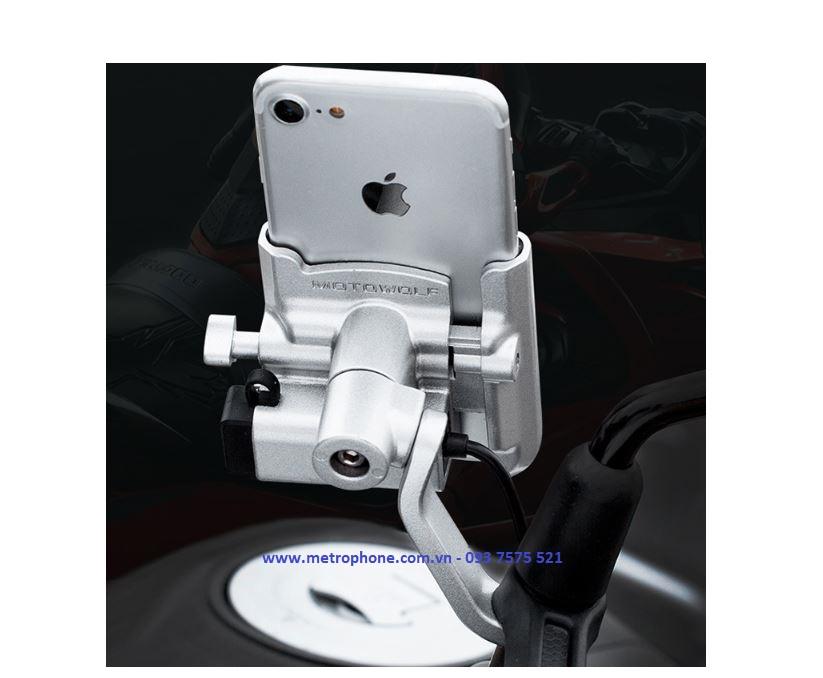 giá đỡ điện thoại chân kính sạc motowolf 2019 metrophone.com.vn