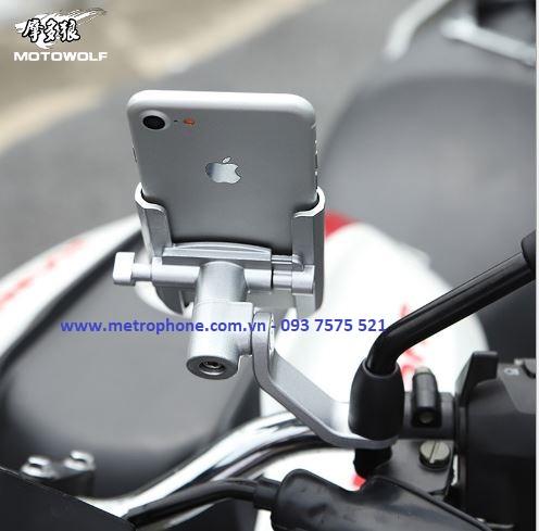 giá đỡ motowolf thu gọn gắn chân kính metrophone.com.vn