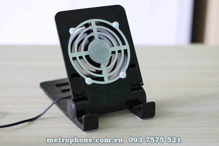 [2543] Quạt Tản Nhiệt Kiêm Giá Đỡ Dành Cho Máy Tính Bảng Và Điện Thoại - Metrophone.com.vn