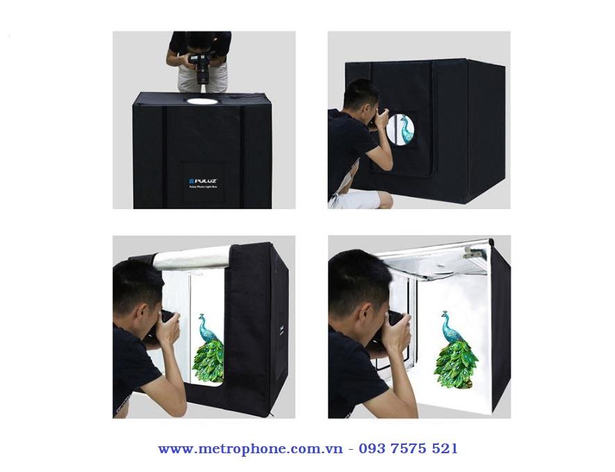 hộp chụp sản phẫm 80x80cm puluz metrophone.com.vn