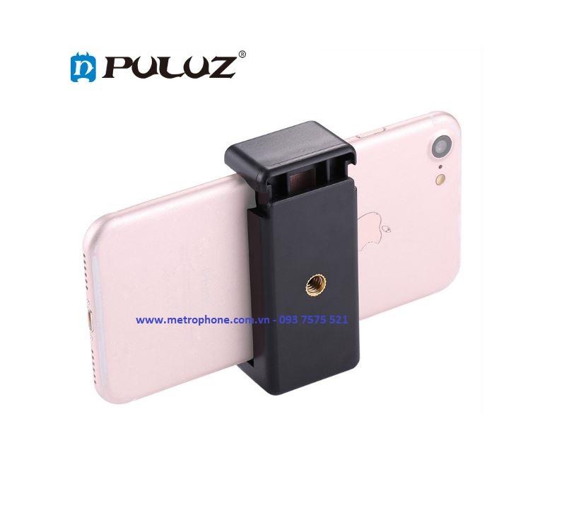 Khung kẹp điện thoại trên gậy action camera gopro chính hãng Puluz metrophone.com.vn