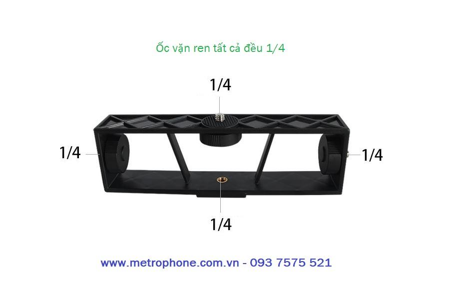 khung gắn nhiều thiết bị loại dài metrophone.com.vn