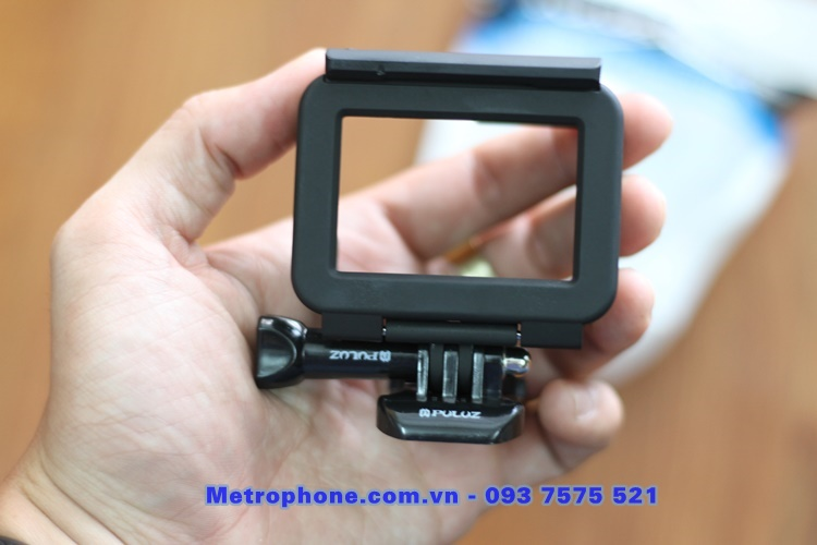 [6117] Khung Nhựa Bảo Vệ Gopro 7 / Gopro 6 /  Gopro 5 / New Hero Chính Hãng Puluz - www.metrophone.com.vn