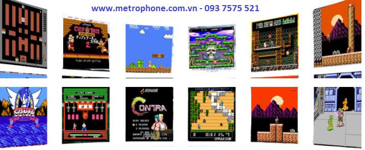 Máy Game NES Xưa Xuất Cổng HDMI Full HD Tay Cầm Bluetooth metrophone.com.vn