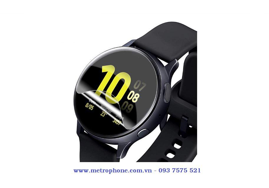 Miếng dán từ màn hình chống bám vân tay và miếng dán mặt sau cho galaxy watch active 2 metrophone.com.vn