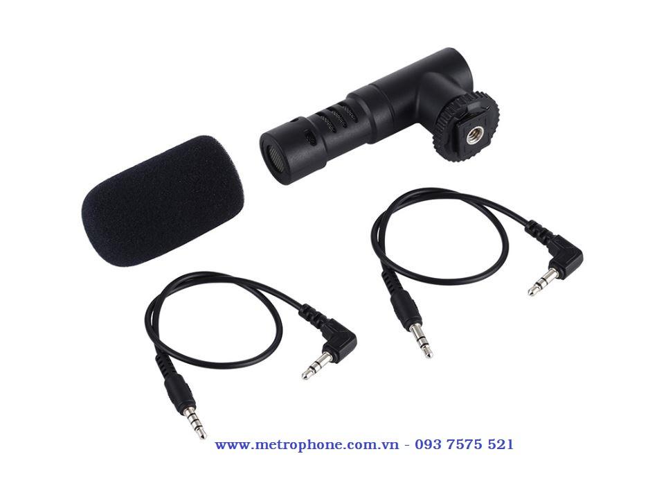 mic thu âm cho máy ảnh và điện thoại puluz metrophone.com.vn
