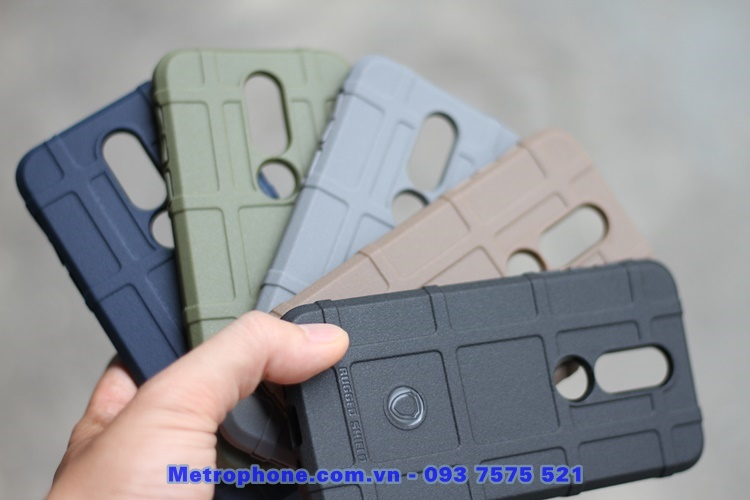 [6122] Nokia 7.1 - Ốp Lưng Chống Sốc Cao Su Rugged Shield -Metrophone.com.vn
