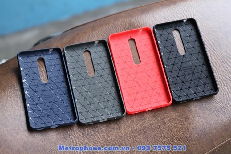 [6044] Ốp Giả Da Dành Cho Nokia 6 -2018 - Metrophone.com.vn