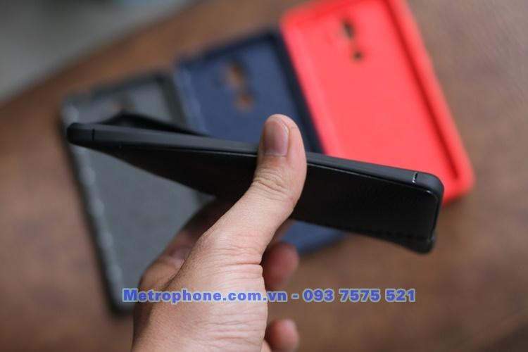 [6047] Ốp Giả Da Dành Cho Nokia 7 Plus - Metrphone.com.vn