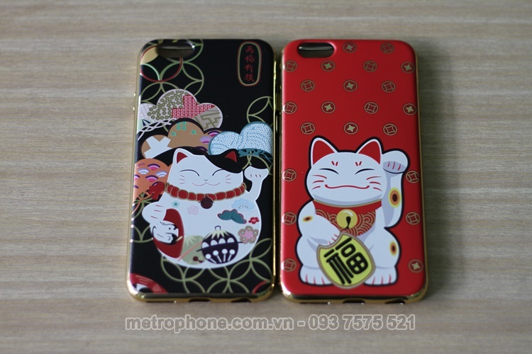 [3550] Ốp Dẻo Hình Mèo Nhật Dành Cho iPhone 6 , 6 Plus , iPhone 7 , 7 Plus, iphone 8, iphone 8 plus - Metrophone.com.vn