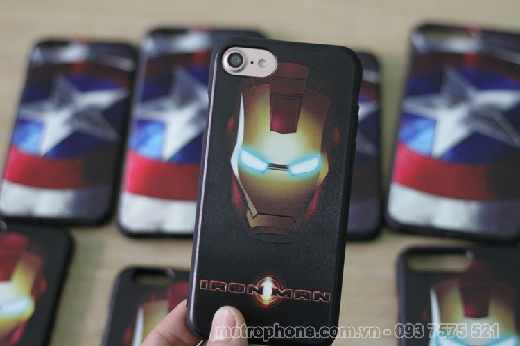 [3468] Ốp Dẻo Hình American và Iron Man Cho IPhone 6, IPhone 6 Plus , IPhone 7 , IPhone 7 Plus, iphone 8, iphone 8 plus - Metrophone.com.vn