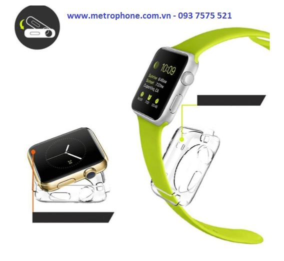 [5898] Ốp Viền Silicon Dẻo Bảo Vệ Dành Cho Apple Watch 38mm/42mm - Metrophone.com.vn