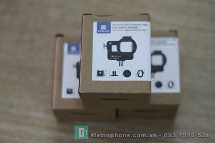 Khung Viền CNC Dành Cho Gopro 5/ Gopro 6 hiệu Puluz - Metrophone.com.vn