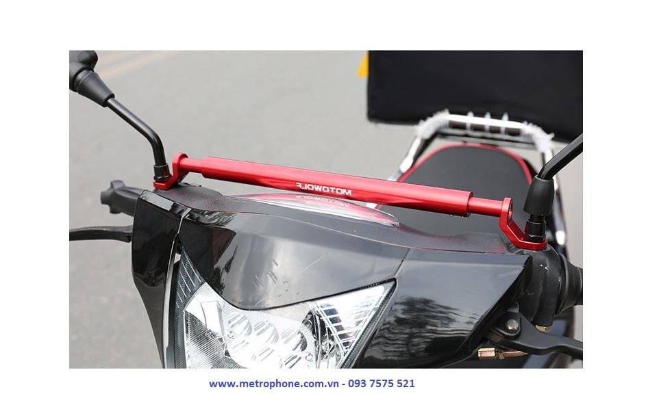 thanh pat ngang chuyển ghi đông gắn 2 chân kính motowolf metrophone.com.vn