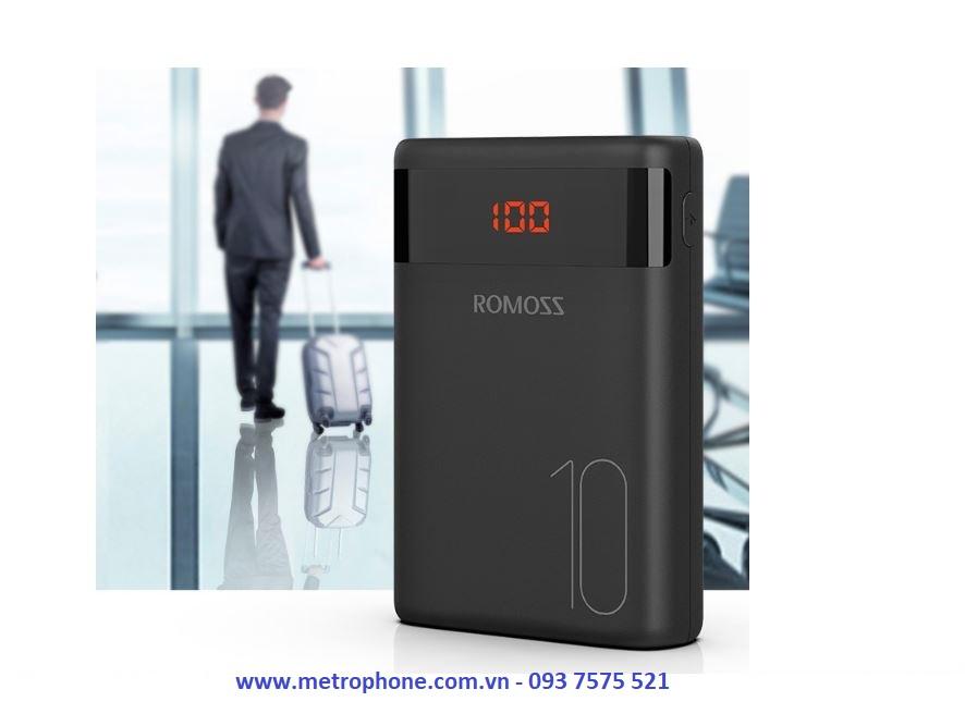 Pin Dự Phòng Mini Romoss Ares10 10.000 mAh metrophone.com.vn