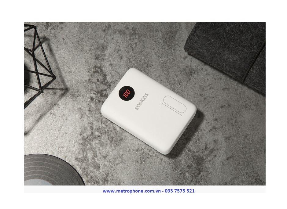 Pin Dự Phòng Mini Romoss MO10 10.000 mAh metrophone.com.vn