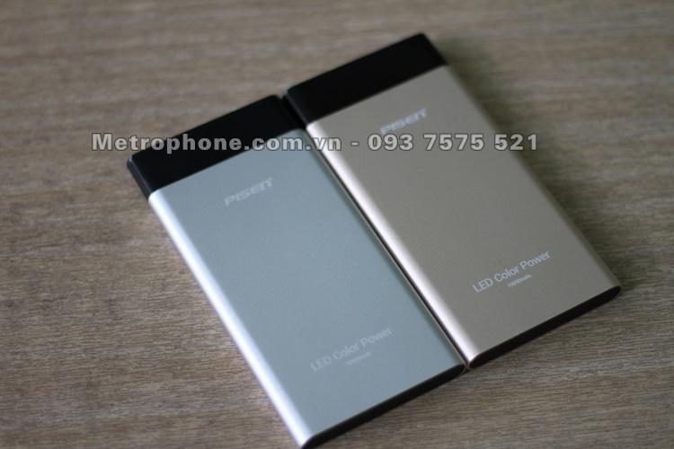 [5288] Pin Dự Phòng Pisen LED Color Power 10.000 mAh - Metrophone.com.vn