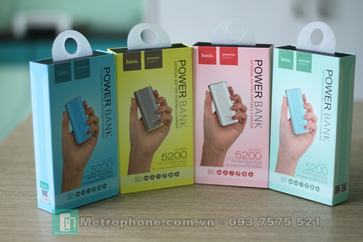 [5349] Pin Dự Phòng HOCO Power Bank 5200 mAh - Metrophone.com.vn