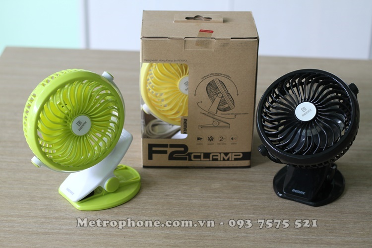 [4967] Quạt Sạc Tích Điện Mini USB Remax F2 - Metrophone.com.vn