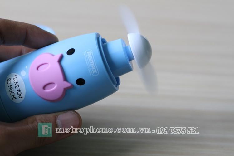 [813] Quạt Cầm Tay Remax F4 Nhỏ Gọn, Dễ Thương - Metrophone.com.vn