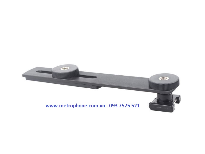 thanh đa năng gắn đèn led mic và máy ảnh metrophone.com.vn