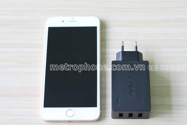 [301] Củ Sạc Nhanh 3.0 Aukey PA-T14 ( 3 Cổng Sạc )- Metrophone.com.vn