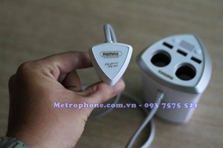 [4703] Bộ Chia Cổng Sạc Trên Xe Hơi Remax CR-3XP - Metrphone.com.vn